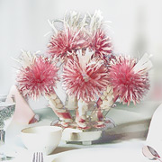 Pink bridal centerpiece
