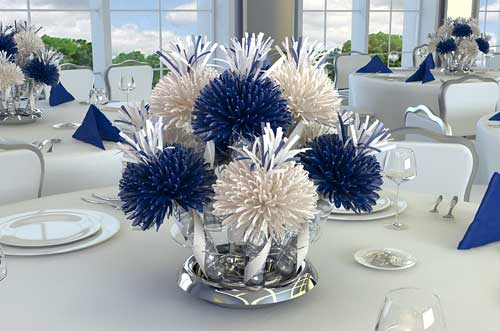 ... Navy Blue And White Wedding Table Decorations Gallery Wedding ...
