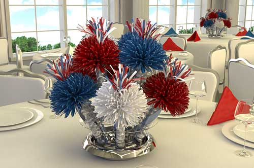 Hot Pink Centerpieces Graduation Centerpiece Red and Blue Graduation